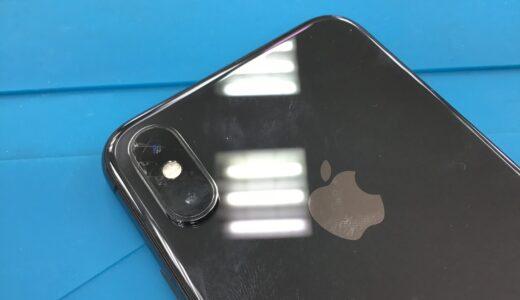 iPhoneXS カメラレンズ割れ 修理 土浦市、つくば市
